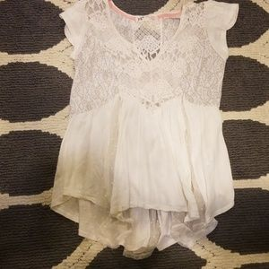 Tops - Cream Lacey top